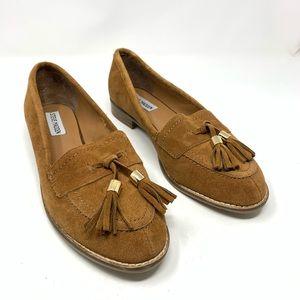 Steve Madden | Brown Tan Suede Tassel Loafers 8.5